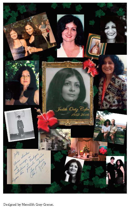 collage of Judith Ortiz Cofer (in memoriam)