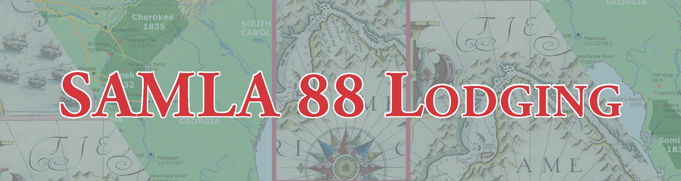 SAMLA 88 lodging banner