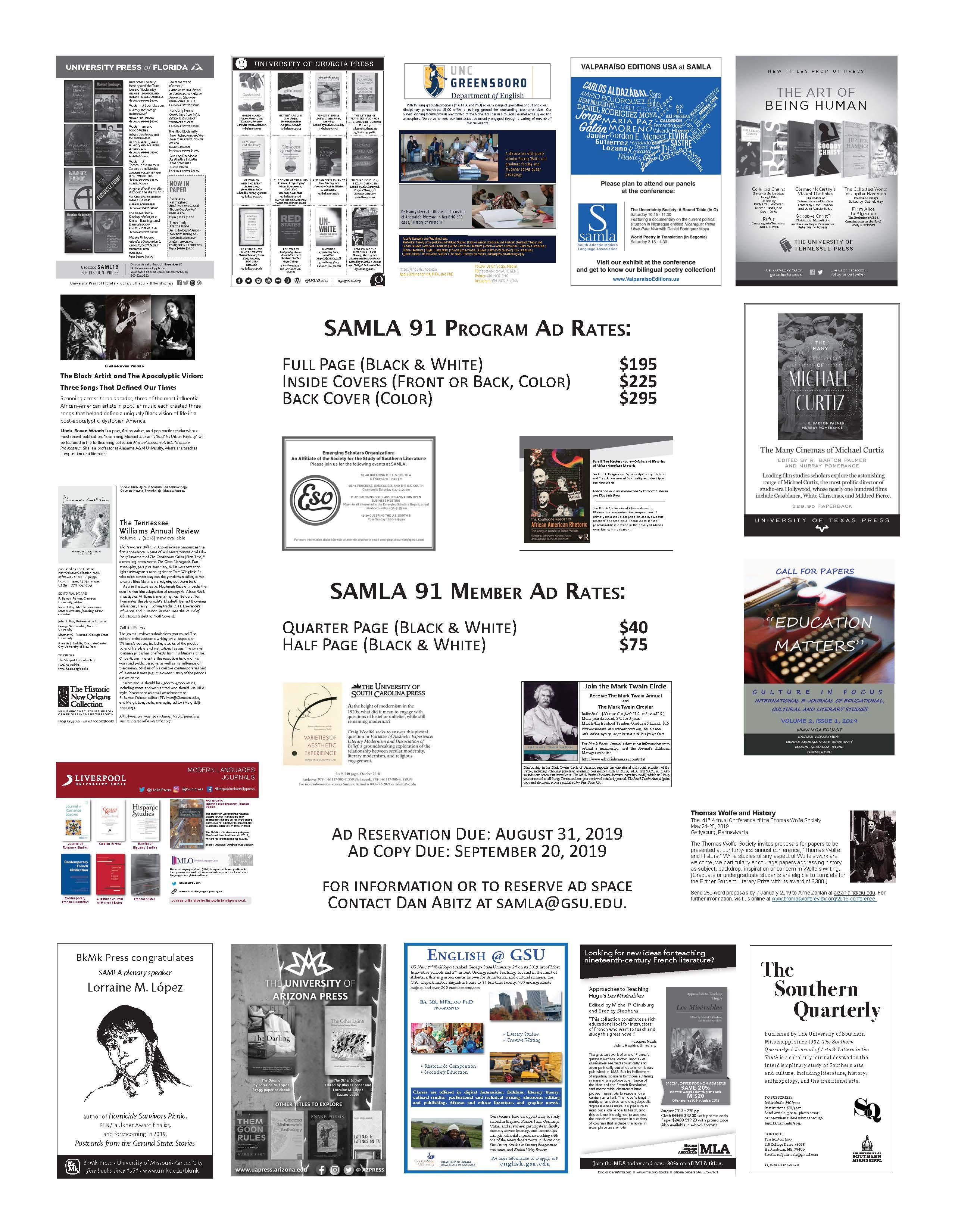 SAMLA 2019 Ad Rates