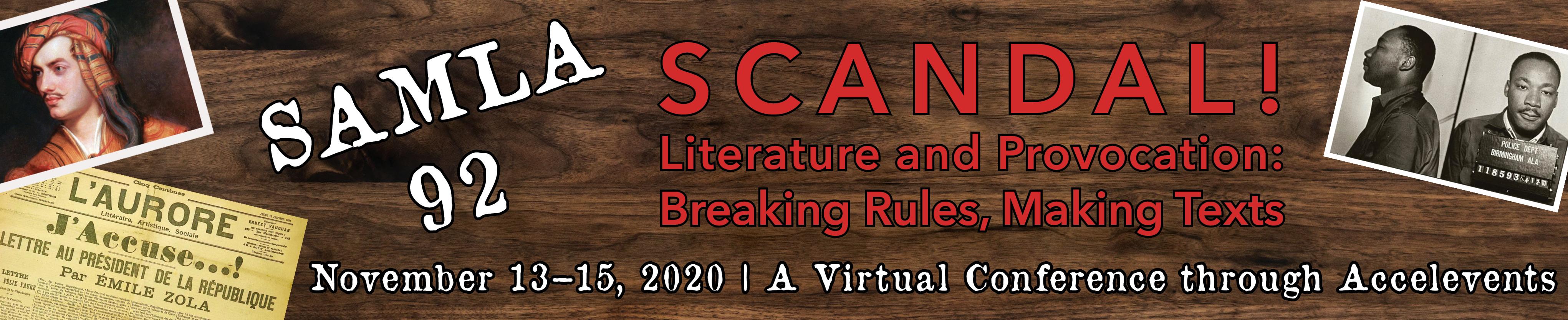 SAMLA 92 | Jacksonville, FL | 13-15 Nov 2020