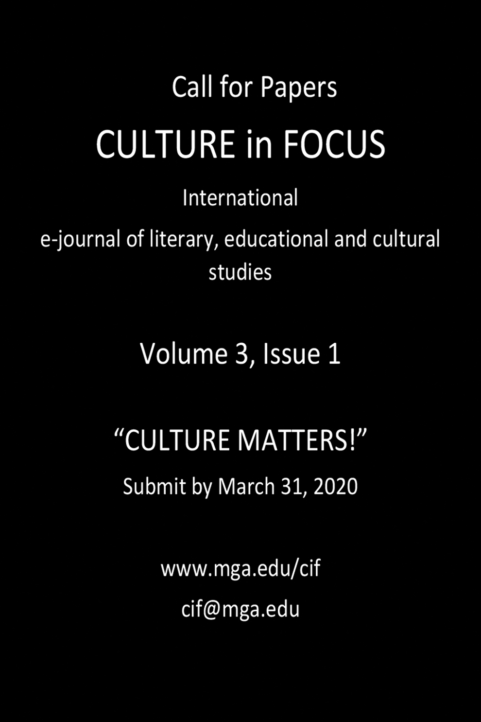 Culture in Focus Ad 2019
